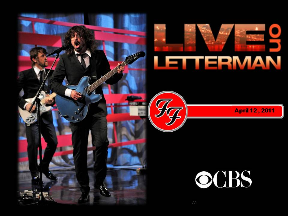 Live On Letterman: Foo Fighters in concert from the Ed Sullivan ...